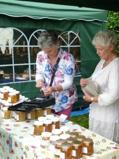 ... at the Outwood Village Show - with notable customer